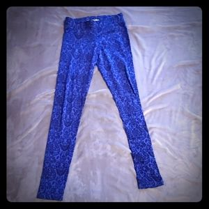 Aeropostale blue printed leggings